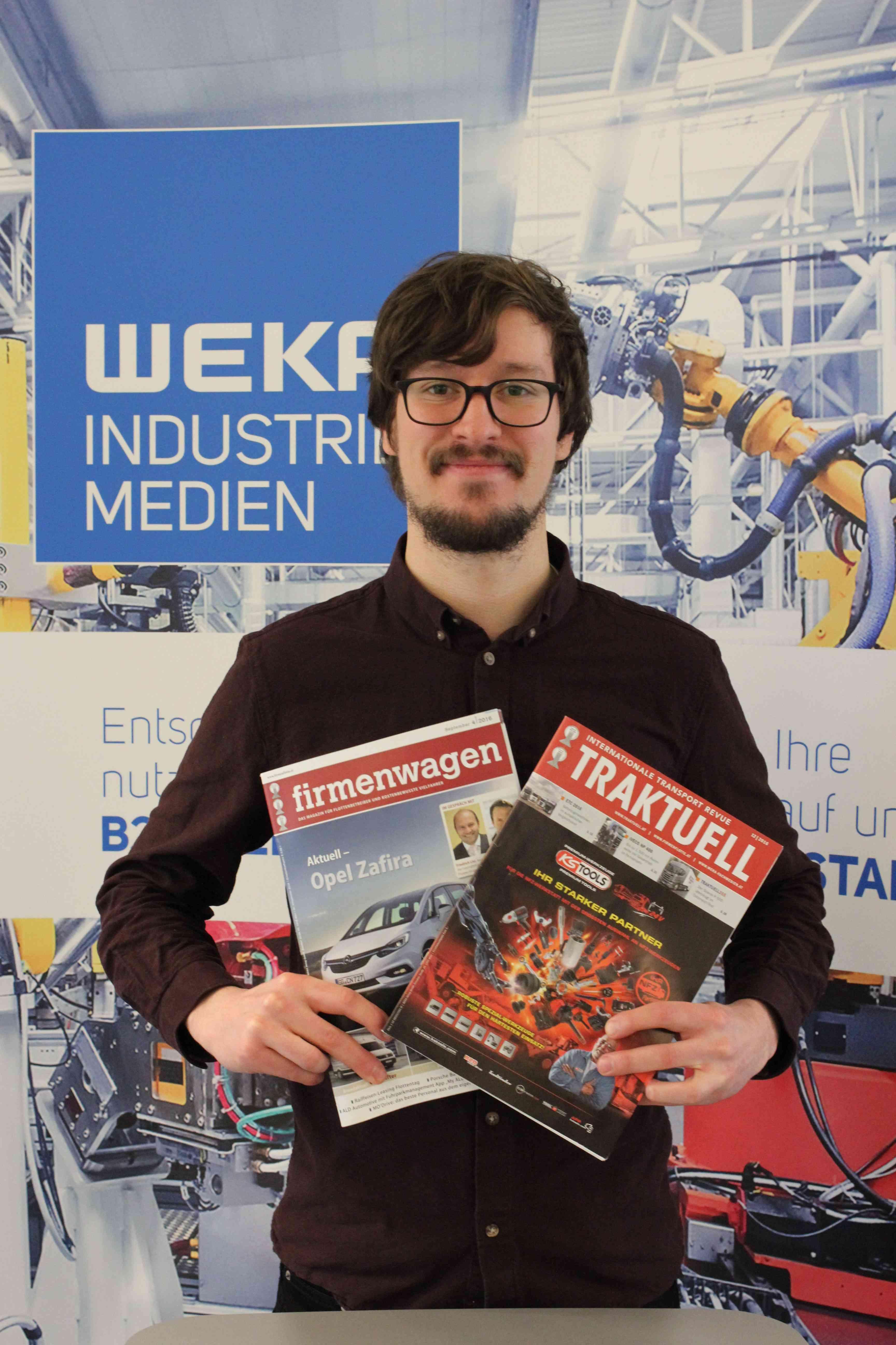 Lukas Klamert ist seit Dezember 2017 Teil des Automotive-Teams