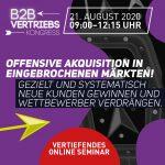 Online Seminar | Offensive Akquisition in eingebrochenen Märkten! | EUR 350,-