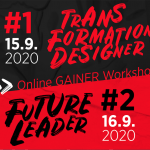 GAINER Workshops | #1 Transformation Designer EUR 890,- | #2 Future Leader EUR 890,-