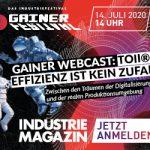 GAINER Webcast | toii® – Effizienz ist kein Zufall, Zwischen den Träumen der Digitalisierung und der realen Produktionsumgebung | EUR 0,-