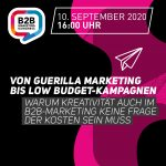 Workshop #howto | von Guerilla Marketing bis Low Budget-Kampagnen | EUR 190,-