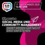 Workshop #howto | Social Media und Community Management | EUR 190,-