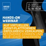 Hands-on Webinar | Auf virtuellen Event-Plattformen erfolgreich verkaufen, Netzwerke stärken und neue Leads generieren! | EUR 45,-